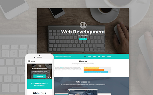 Web Development Joomla Template