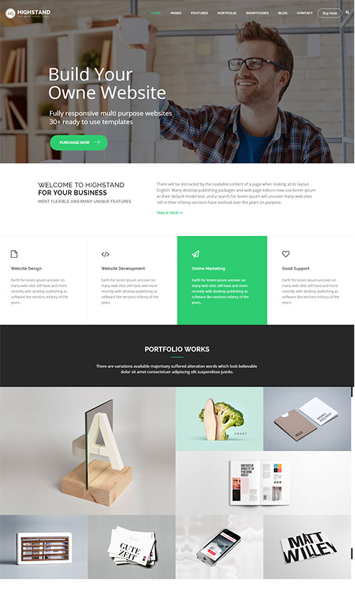 highstand joomla template