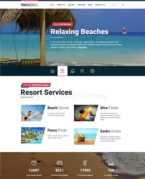 hot paradise joomla template