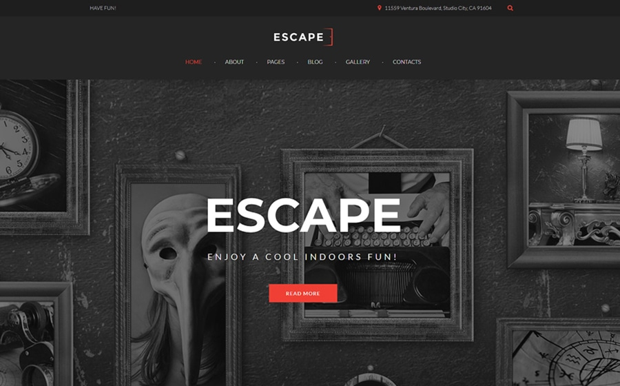 Escape Room Joomla Template