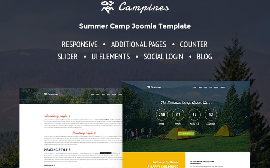 Camp Joomla Template