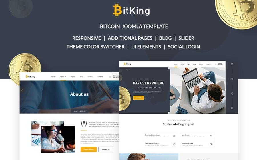 Bitcoin Joomla Template