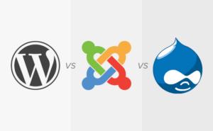 Joomla vs WordPress vs Drupal